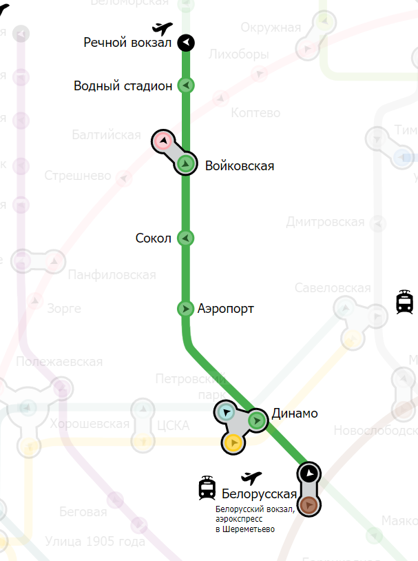 Белорусская-речной вокзал