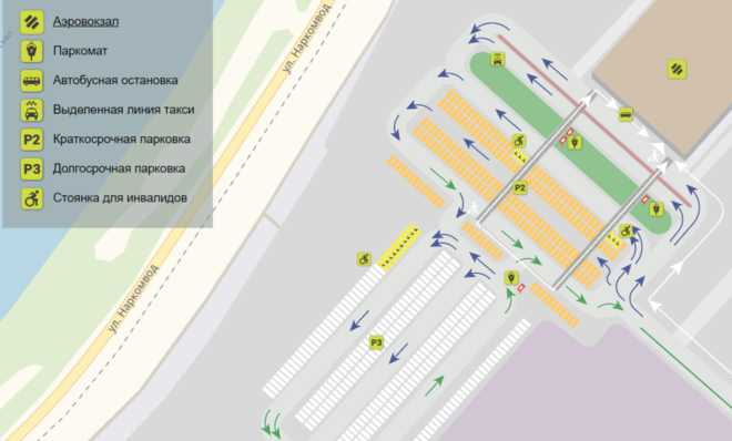 схема парковок Жуковский
