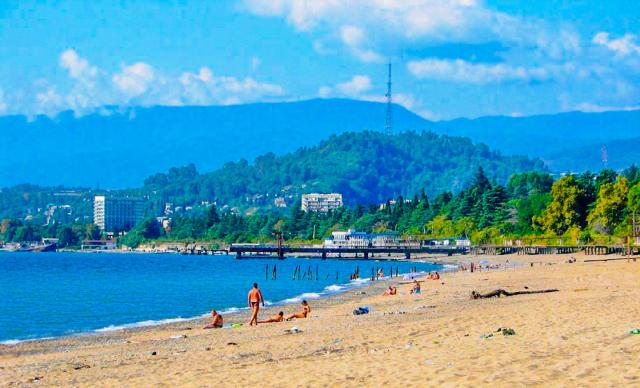 Пляж Сухума
